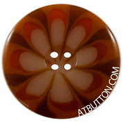 Four Hole Orange Combo Button Style #319