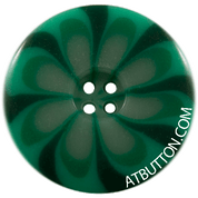Four Hole Green Combo Button Style #320