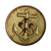 Gold Distressed Anchor Button #360