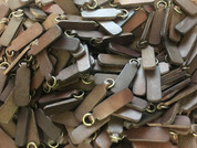 CLOSE OUT GENUINE LEATHER ZIPPER PULLS PER DOZEN