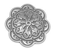 """1"""" #4211 Floral Concho Stainless Steel"""