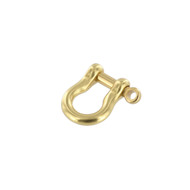"""1/4"""" Shackle w/Pin Solid Brass"""