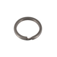 Key Ring 26mm Nickel Matte Solid Iron