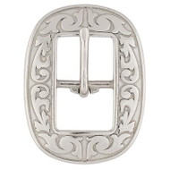 "3/4"" 4420 Floral Center Bar Buckle SS"