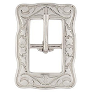 "3/4"" 4422 Floral Center Bar Buckle SS"