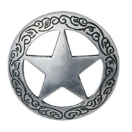 "1"" #1806 Antique SIlver Lone Star Conchos"