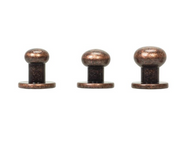 #3440 Button Screw Stud Copper 8mm - 10 Pack