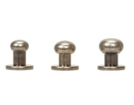 #3440 Button Screw Stud Antique Nickel 8mm - 10 Pack