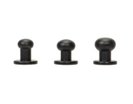 #3440 Button Screw Stud Black 6mm - 10 Pack