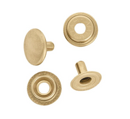 Line 24 Snaps Brass Plated (Package of 10)