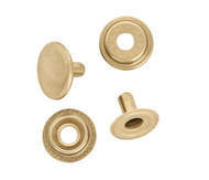 Line 24 Snaps Solid Brass  (Package of 10)
