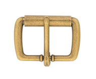 "1 1/2"" #50 Antique Brass Roller Buckles"