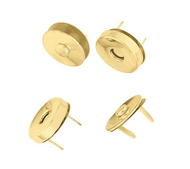 """1/2"""" Brass Plated Magnetic Closure"""
