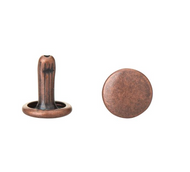 """7/16"""" Antique Copper Double Capped Rivets (Package of 100)"""