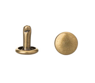 "7/16"" Antique Brass Double Capped Rivets (Package of 100)"