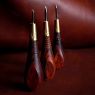 LVL Rosewood Awl w/ Fixed Blade 2.7mm