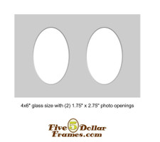 """4X6"""" Matboard - Double Oval"""