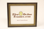 80360 1.5 Walnut w/Gold Double Bead Picture Frame