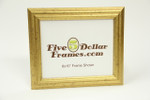 """720 1.25"""" Small Double Domed Gold Leaf Picture Frame"""