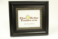 """80297 3.25"""" Traditional Espresso w/Gold Detail Picture Frame"""