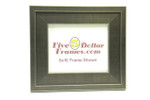 """10226  3"""" Wide Silver Step Metro Finish Picture Frame"""
