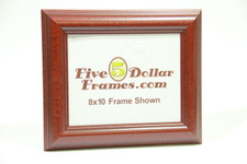 """88039 1.5"""" Mahogany w/Step Detail Domed Picture Frame"""
