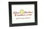 "10679 1.25"" Satin Black Studio Type w/Step Picture Frame"