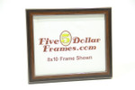 "83301 .875"" Walnut w/Silver Detail Picture Frame"