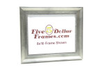 "300-830 1.5"" Silver Slope w/Bead Detail Picture Frame"