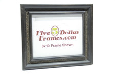 "1585-65 2"" Decorative Traditional Satin Black Picture Frame"