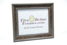 """296-21 1.75"""" Classic Aged Brown Distressed Picture Frame"""
