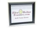 "805-120 1.25"" Studio Silver & Black Picture Frame"