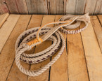 """Pro Series Bull Rope (9x7, 7/8"""" full lace handle, 1"""" soft tail)"""