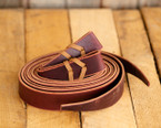 Burgundy Leather Latigos