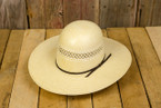 Open Crown Straw Cowboy Hat