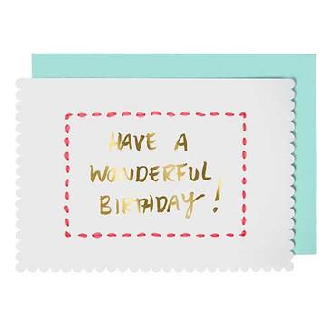 Stitched Birthday Card