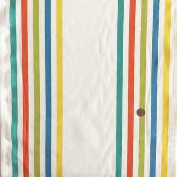 "Fiesta Border Stripe 16"" Toweling (Salsa)"