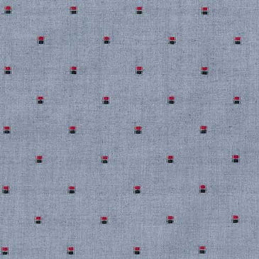 "Robert Kaufman Sailor's Dobby - Double Dot in Regatta (57"" wide)"