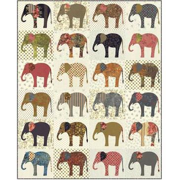 Laundry Basket Quilts - Elephants