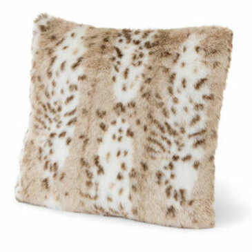 Sadie Snow Leopard Pillow Cover Kit - 19x19""