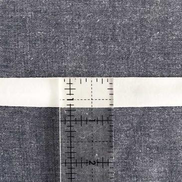 Jersey KNIT Single Fold 18 mm Bias Tape - White
