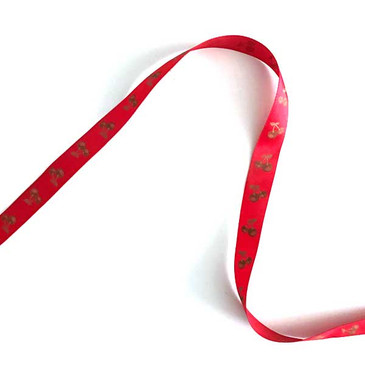 French Red Cherry Ribbon - 5/8""
