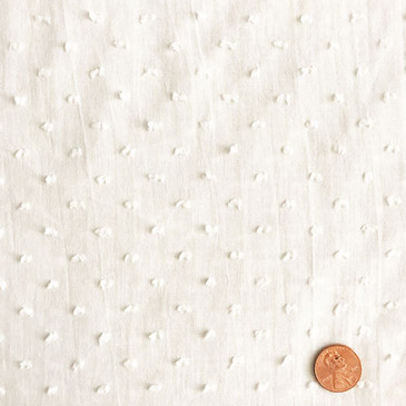 "White Swiss Dot - 57"" wide"