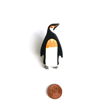 King Penguin Ceramic Brooch