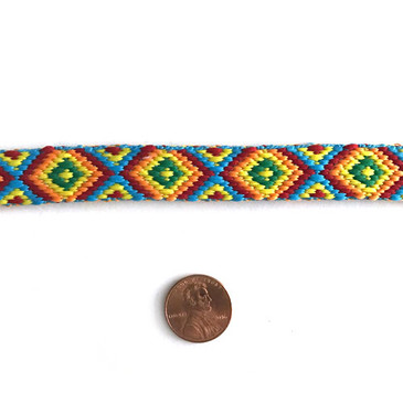 Rainbow Diamond Friendship Bracelet Trim 9/16""