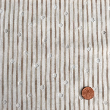 Kokka - Tsumiki: Stripe with Translucent Dot - Coffee (double gauze)