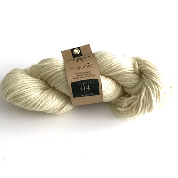 Garthenor No 4 - Aran (Organic Jacob in Natural White) - 100g