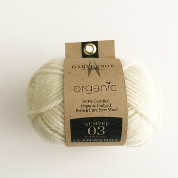 Garthenor No 3 - DK (Llanwenog in Natural White) - 50g