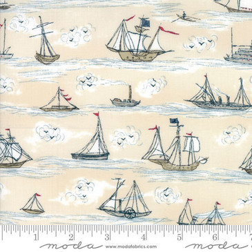 Moda - Ahoy Me Hearties - Busy Seas (Multi)
