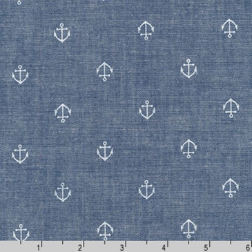 Sevenberry: Anchors Chambray
